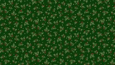 Makower Deck the Halls - Leaf Spray Green