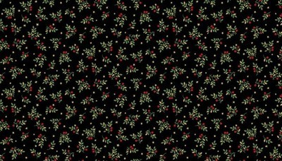 Makower Deck the Halls - Leaf Spray Black
