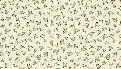 Makower Deck the Halls - Leaf Spray Cream