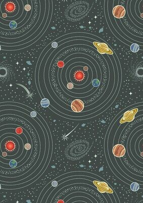 Lewis & Irene Light years - Dark Grey Planets (Glow in the Dark)