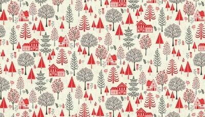 Makower Scandi 2020 - Trees Red
