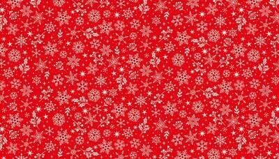 Makower Scandi 2020 - Snowflake Red