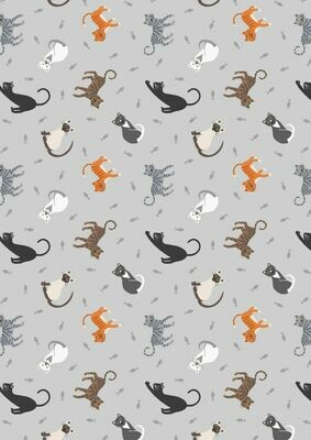 Lewis & Irene Small things….Pets - Cats on Pale Grey