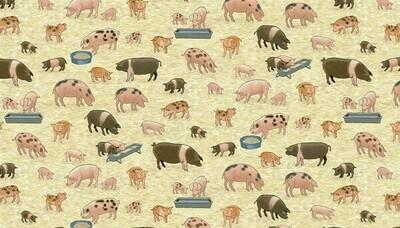 Makower Village Life - Pigs
