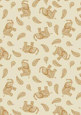 Lewis & Irene Soraya - Paisley Elephant on Cream