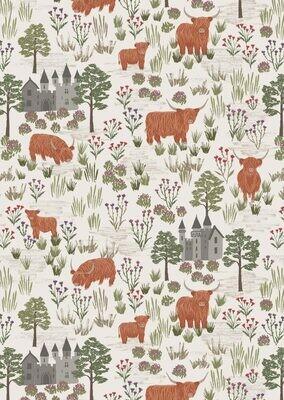 Lewis & Irene Lock Lewis - Castles and Cattle on Dark Cream