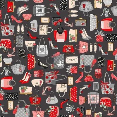 Makower Pamper - Handbags on Grey