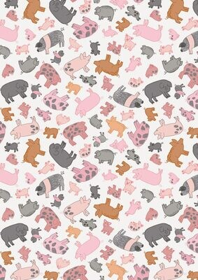 Lewis & Irene Piggy Tails - Piggies on Cream
