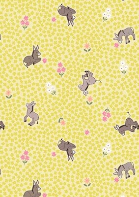 Lewis & Irene Piggy Tails - Dinky Donkey on Yellow