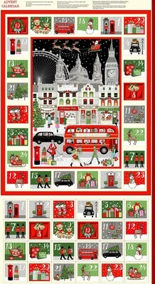 Makower Christmas 21 London - Advent Panel