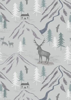 Lewis & Irene The Glen - Royal Stag on Light Grey