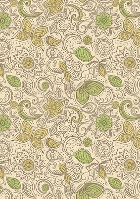 Lewis & Irene Sew Mindful - Floral Flow on Mellow Yellow