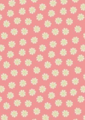 Lewis & Irene Sew Mindful - Flower mandalas on peach