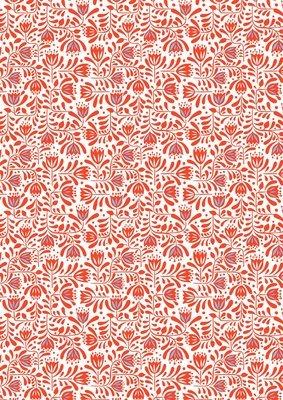 **REMNANT** - Lewis & Irene Hann's House - Red Hann's Floral 22cm x 112cm