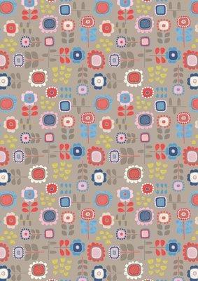 **REMNANT** Lewis & Irene Hann's House - Summer Flowers on Mushroom 75cm x 112cm