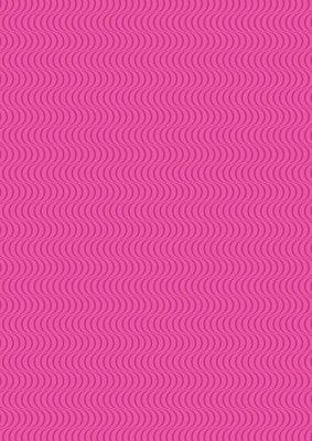 Lewis & Irene Geometrix - Hot Pink Wave