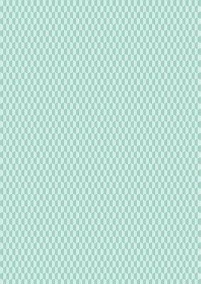 Lewis & Irene Geometrix - Minty Half Hex