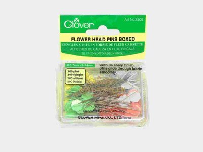 Clover 2506 Flower Head pins Boxed 100pcs