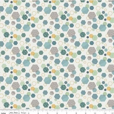 Riley Blake Fossil Rim - Fossil Hexagon Cream