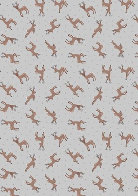 Lewis & Irene Small things…Country Creatures - Deer on Grey