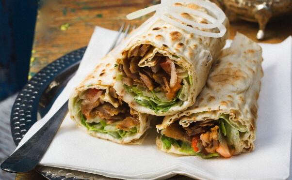 Musaique (Chicken + Falafel) Lavash Wrap