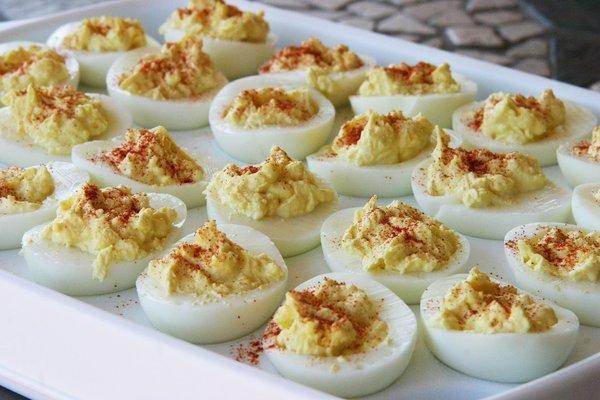 Pimento-Studded Deviled Eggs