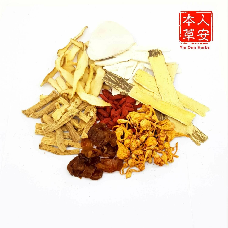 孢子虫草花汤 (Premium Cordyceps Flower Soup)