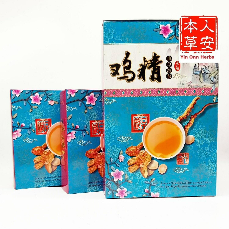 天然虫草泡参鸡精 Essence of Chicken with American Ginseng & Cordyceps 3x70gmx3boxes