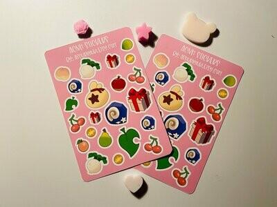 ACNH Sticker Sheet- Nook- New Horizon- Kiss Cut Stickers