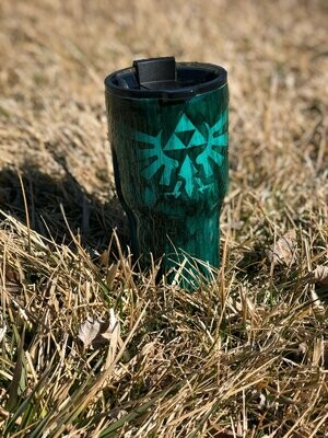 LOZ Wood Grain Alcohol Ink tumbler - Double Insulated - Epoxy Tumbler - Vinyl - Gifts - Gamer - Video  Game Tumbler