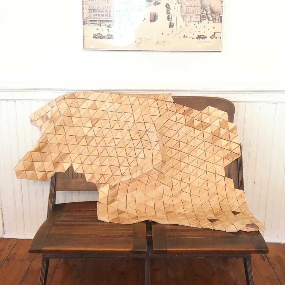 Wooden Bear Skin Rug
