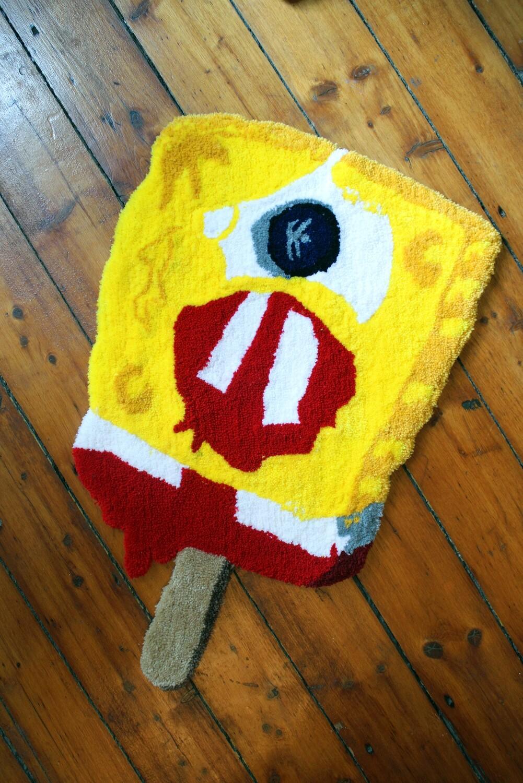 """""""Cybob Squareclops"""" Hand-Made Art Rug"""