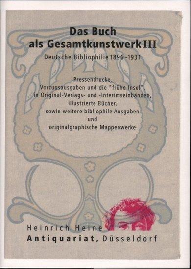 Das Buch als Gesamtkunstwerk (Bibliophilie) III. a300102304