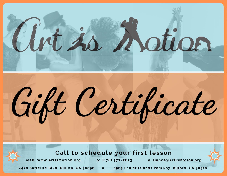 Gift Certificate - 12 Class Pass