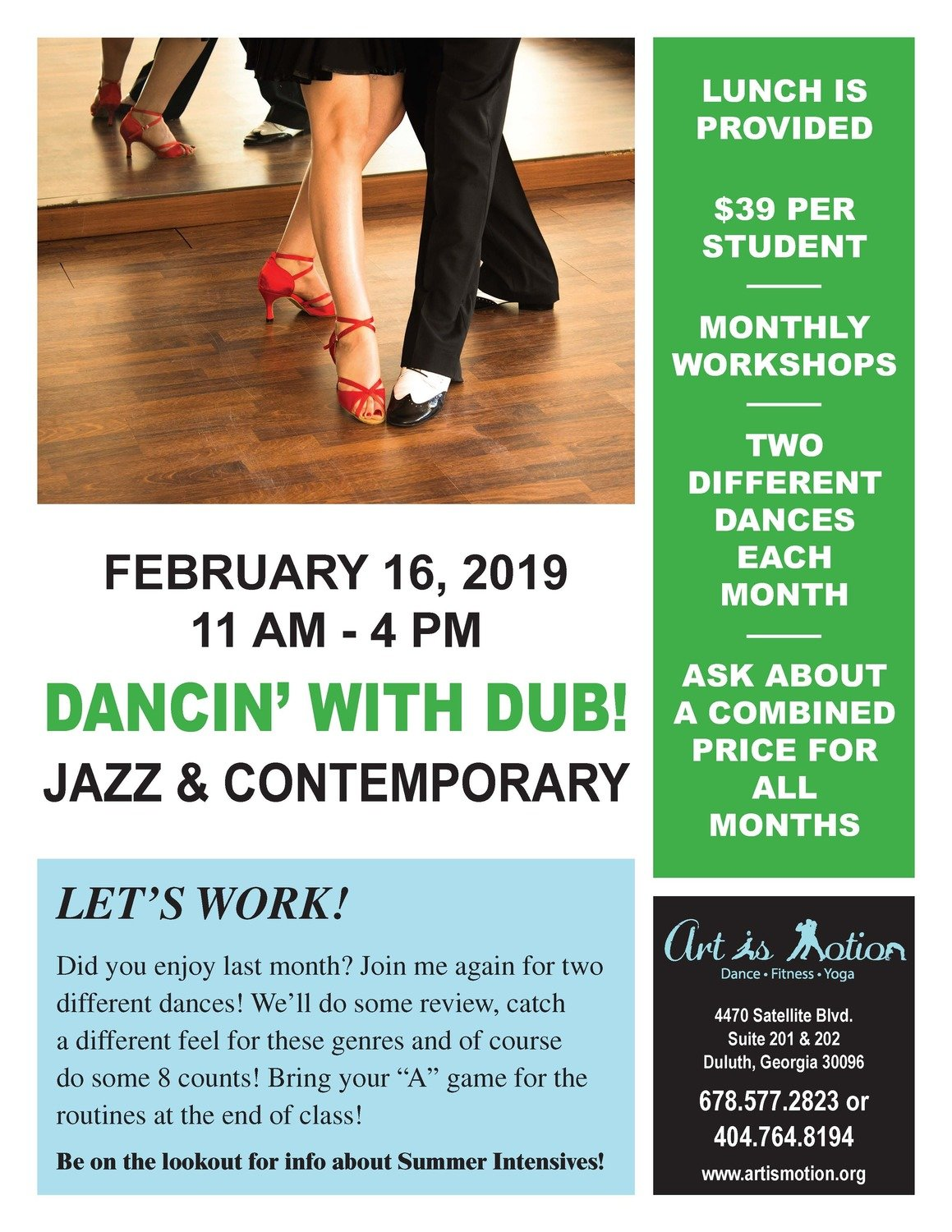 Dance Workshop - Jazz & Contemporary
