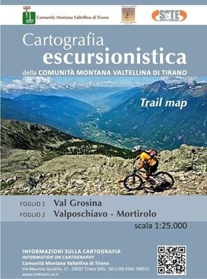 Mappa C.M. Valtellina di Tirano: Val Grosina + Valposchiavo - Mortirolo