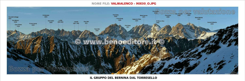 Testate panoramiche con toponomastica 90x30cm