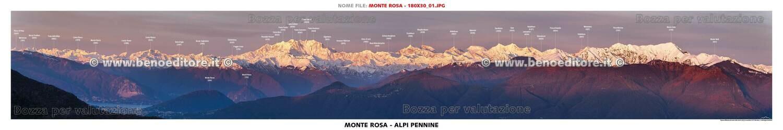 Testate panoramiche con toponomastica 180x30cm