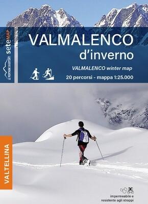 Mappa Valmalenco d'inverno (impermeabile e antistrappo)