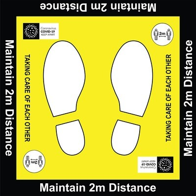 Maintain 2m Distance - Floor Graphic 600x600mm