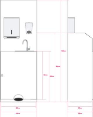 Coronavirus Free-standing Washing Station