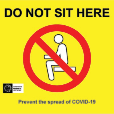 Coronavirus Seat Graphic -  200x300mm