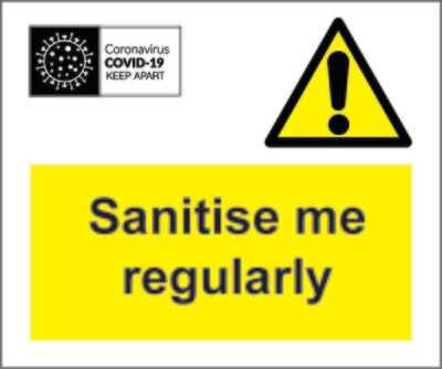 Coronavirus Sanitise Me Labels
