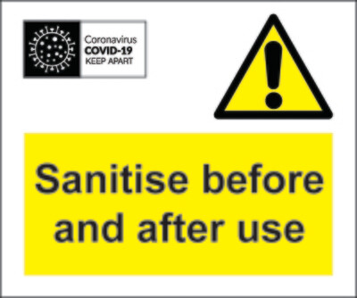 Coronavirus Sanitise Before Labels