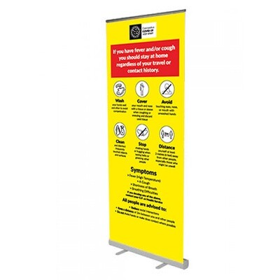 Coronavirus Roll Up Banner (850mm wide)
