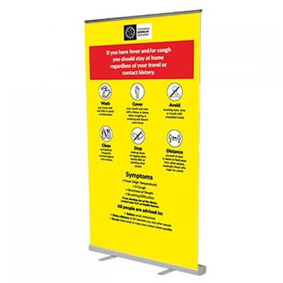 Coronavirus Roll Up Banner (1200mm wide)