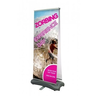 Outdoor hurricane roll-up banner (Single or double sided)