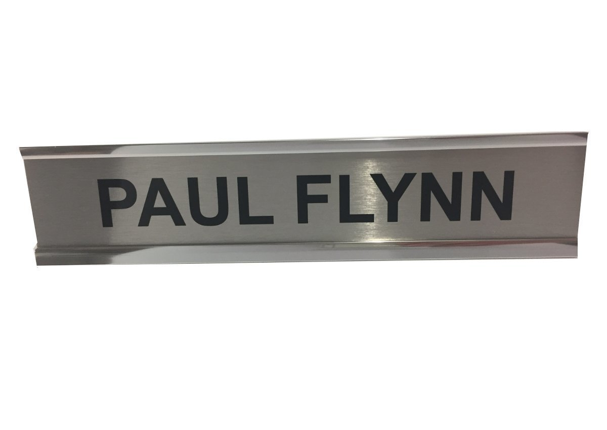 250 x 50mm Chrome or Gold Wall/Door Sign Holder