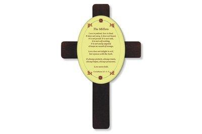 Personalised Indoor Mahogany Cross