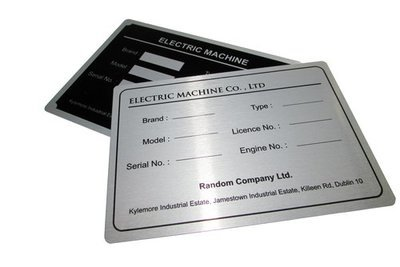 50 of 25 x 50mm Metal Labels